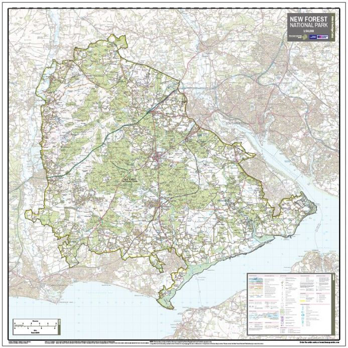 The New Forest National Park - Wall Map